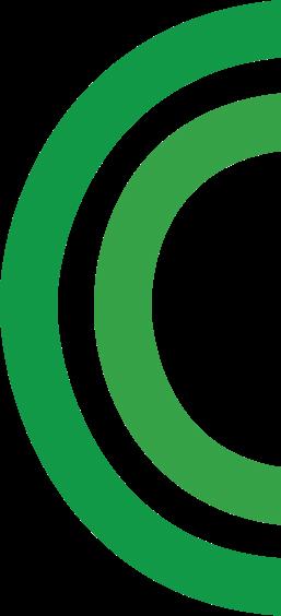 green half double circle